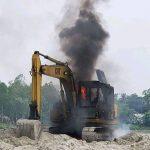 টাঙ্গাইলের কালিহাতীতে ২টি বেকু জ্বালিয়ে ধ্বংস